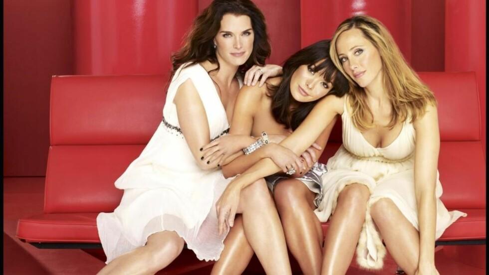 LEPPESTIFTGJENGEN:  Lindsay Price som Victory, Brooke Shields som Wendy, Kim Raver som Nico. Foto: Stella Pictures