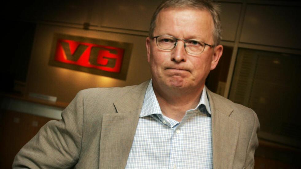 SA IKKE FRA: VG-redaktør Bernt Olufsen (55) plikter å si fra til Børsen når han eller hans nærmeste kjøper aksjer i VGs eierselskap Schibsted. Foto: Heiko Junge / SCANPIX