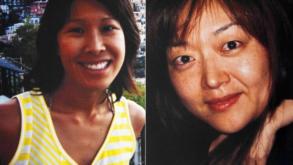 FENGSLET: De amerikanske journalistene Laura Ling (til venstre) and Euna Lee er dømt til 12 års fengsel 8.juni i år etter at de ble stoppet på grensen i Nord-Korea i forbindelse med opptak til et amerikansk TV-program. Hillary Clinton har tidligere forsøkt å få journalistene ut av fengsel. Nå forsøker også hennes mann, Bill Clinton, å hjelpe kvinnene. Foto: REUTERS/Handout (UNITED STATES POLITICS CRIME LAW)
