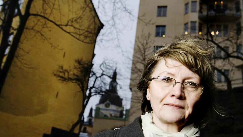 SAMBOEREN:  Eva Gabrielsson, Larssons samboer gjennom 32 år, skriver bok om de vanskelige åra etter hans død. Foto: Adrian Øhrn Johansen