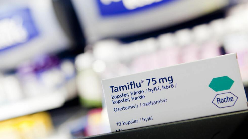 KJØPT INN: De norske helsemyndigheter har kjøpt inn 1,6 millioner doser med Tamiflu. Medisinen ligger fortsatt uåpnet på lager og må snart kastes fordi holdbarhetsdatoen går ut neste år.  Foto: SCANPIX