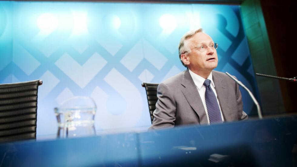 RENTA FORBLIR LAV: Det ble klart etter at Norges Bank hadde rentemøte i dag. Svein Gjedrem skrur ikke opp renta, den blir liggende på 1,25 prosent. Foto: Scandpix.