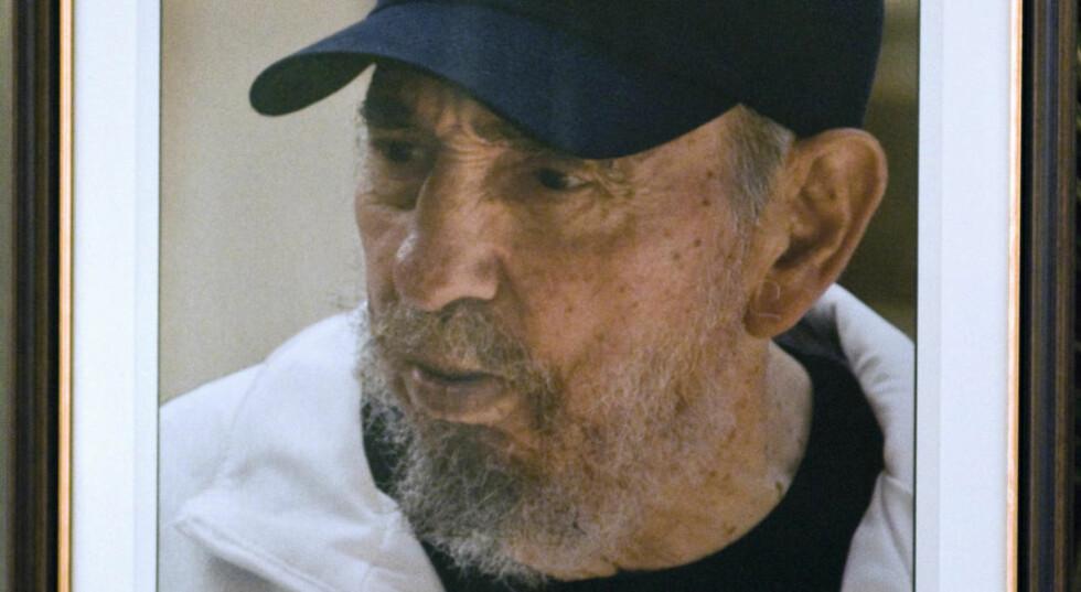 CASTRO-HYLLEST: Det siste bildet av Cubas leder Fidel Castro tatt av sønnen Alex Castro vist i forbindelse med presidentens 83-årsdag. FOTO AFP/STR/SCANPIX