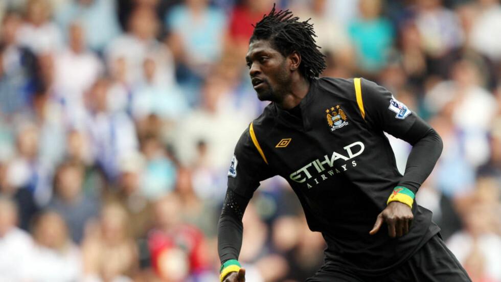 GODT I GANG: Emmanuel Adebayor brukte bare tre minutter av årets sesing på å score.Foto: /ScanpixAP/Scott Heppell