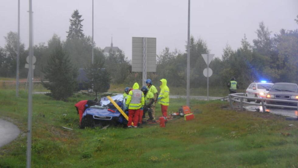 ULYKKE: En mann er brakt til sykehus. Foto: Bjørn Erik Ovesen/Bømlo-nytt