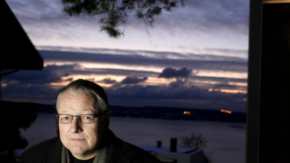 FÅR SKRYT: Forfatter Roy Jacobsen hjemme på Nordstrand. Foto: HANS ARNE VEDLOG