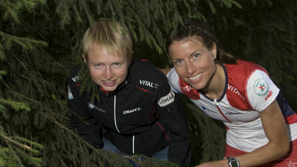 NORSKE RIVALER: Marianne Andersen (tv) og Anne Margrethe Hausken kjempeR om medaljer i årets orienterings-VM i Ungarn. Foto: Terje Bendiksby / SCANPIX .