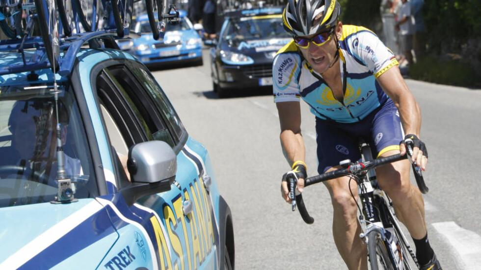 TIL NORGE: Onsdag formiddag lander Lance Armstrong i Norge, for å sykle Oslo Grand Prix. Foto: AP