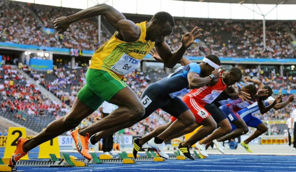 SOM SKAPT FOR SPRINT:  494 av verdens 500 raskeste menn og kvinner har vest-afrikansk opprinnelse, men så enkelt er det likevel ikke å vinne i sprint, skriver Esten O. Sæther.Foto: SCANPIX/AFP PHOTO DDP / MICHAEL KAPPELER