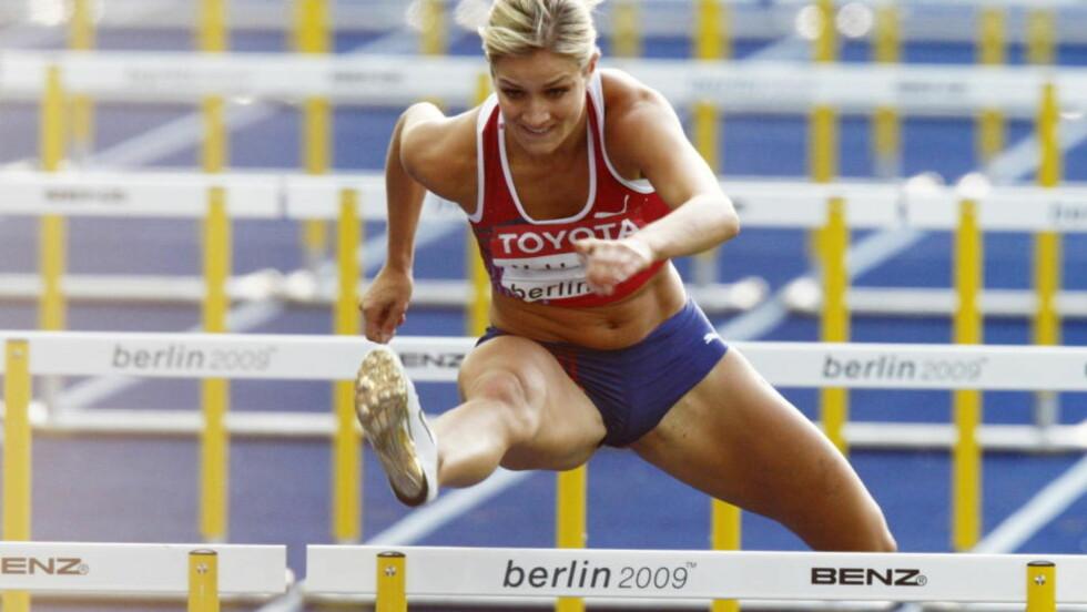 SLÅTT UT: Christina Vukicevic ble nummer fem i sin semifinale på 100 meter hekk, og er dermed slått ut av VM. Foto: Cornelius Poppe, Scanpix