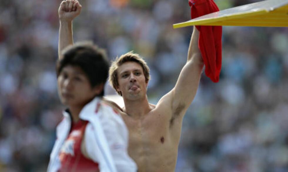REKKER TUNGE TIL KONKURRENTENE: Andreas Thorkildsen var overlegen i spydfinalen. Foto: ARNT E. FOLVIK