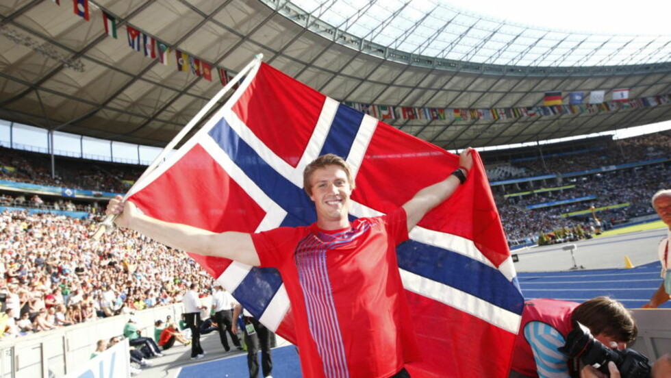 SEKS MEDALJER PÅ SEKS ÅR: Andreas Thorkildsen utklasset konkurrentene på Olympiastadion i Berlin. Foto: Cornelius Poppe/SCANPIX