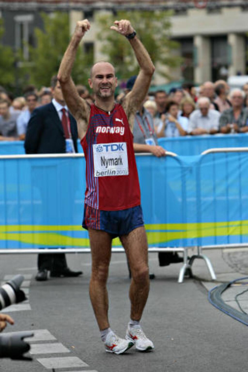 ... MEN GLAD: - Jeg er glad også. Veldig glad, sier Norges første medaljevinner i Berlin-VM.Foto: Arnt E. Folvik, Dagbladet