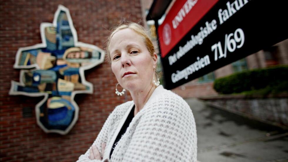 ENIGE OM TILTAK: Hovedverneombud Mette Børing ved Universitetet i Oslo har vært i møte med universitetsledelsen i dag. De legger fram seks tiltak som skal hindre sexpress på universitetet. Foto: Krister Sørbø