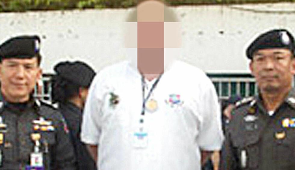 ARRESTERT:  En norsk mann som jobbet som frivillig for politiet i Thailand er arrestert i Pattaya. Foto: Harald Henschien