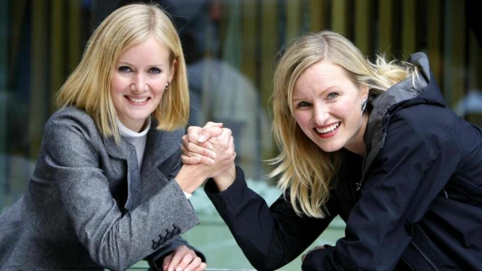 TØFF KAMP: Inger Lise Hansen (KrF) og Inga Marte Thorkildsen fra SV kjemper om et utjevningsmandat i Vestfold. Deres duell er en av flere tette kamper om stortingsplass og valgseier. Foto: PER FLÅTHE
