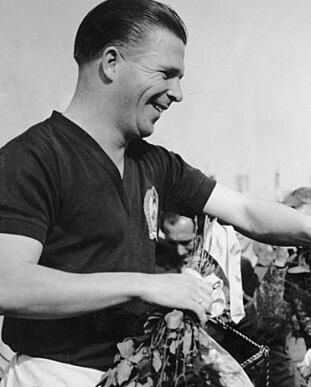 <strong>1954:</strong> Puskas før en kamp mot England. Foto: FourFourTwo/Haymarket