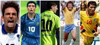Pelé, Puskas, Messi eller Maradona - Hvem er tidenes beste tier?
