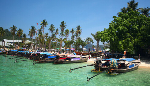 BACKPACKER-FAVORITT: Koh Phi Phi er en av Thailands mest besøkte øyer. Foto: Ving