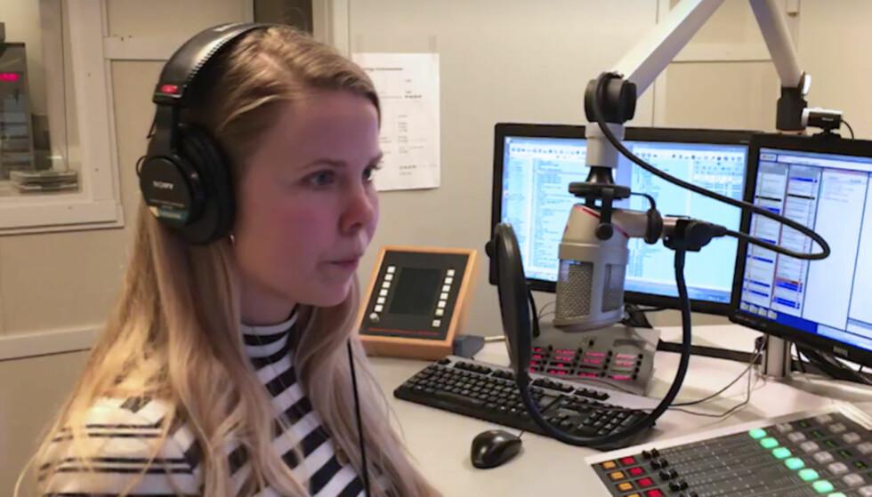 ORD-BLEMME Det gikk litt i ball for Kjersti Havdal da hun skulle lese opp nyhetene onsdag morgen. Skjermdump P3