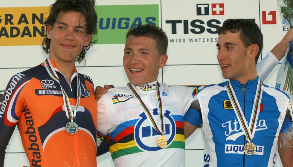 INGEN HVEM SOM HELST: Thomas Dekker, her med VM-sølvet fra U23-VM i 2004, innrømmer nå å ha vært den mystiske Luigi i Fuentes-arkivet. Foto: AP/Peter Dejong/ NTB Scanpix