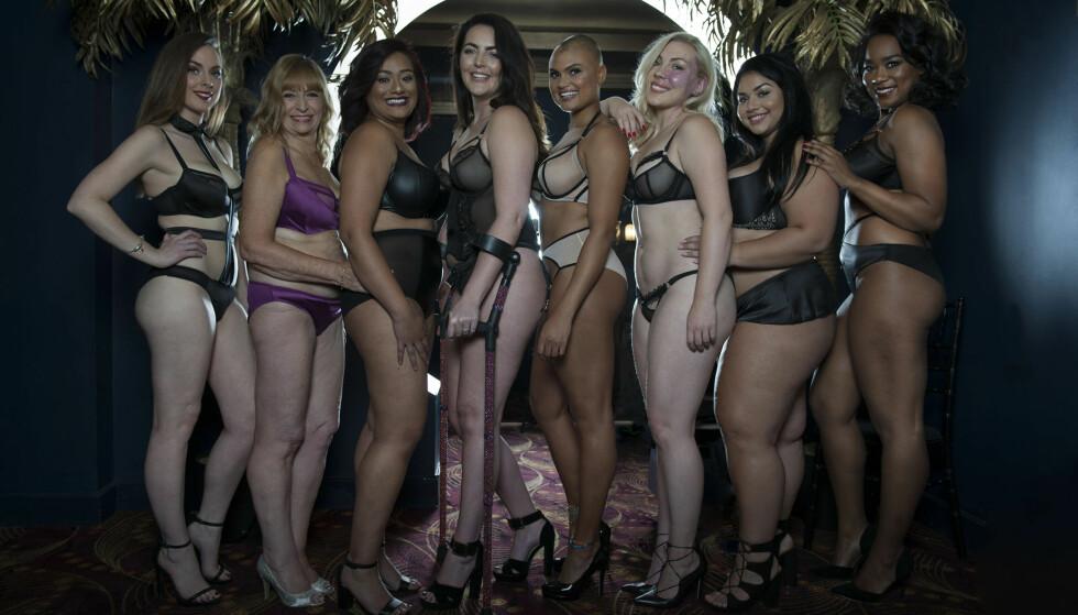 <strong>NYSKAPENDE:</strong> Undertøysmerket Curvy Kate har lansert en kampanje, «The New Sexy», som handler om å utfordre folks oppfatning av hva som er vakkert. Foto: Curvy Kate / Splash / NTB Scanpix