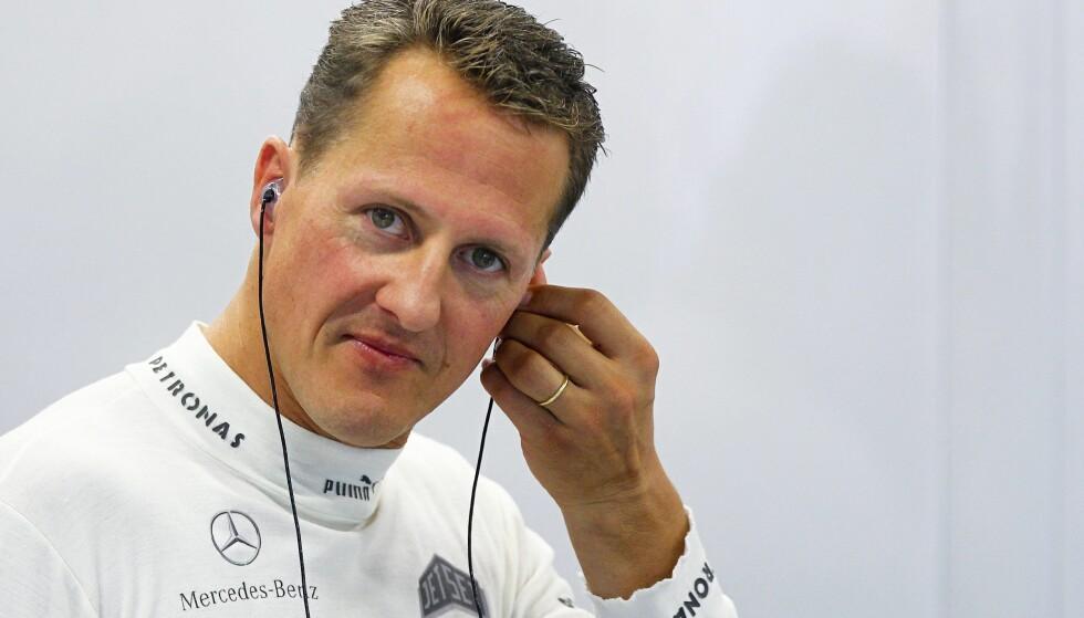 HAVNET I KOMA: Michael Schumacher havnet i koma etter en skiulykke i 2013. Siden har det vært få oppdateringer om den tidligere Formel 1-stjernas helse. Foto: EPA/DIEGO AZUBEL