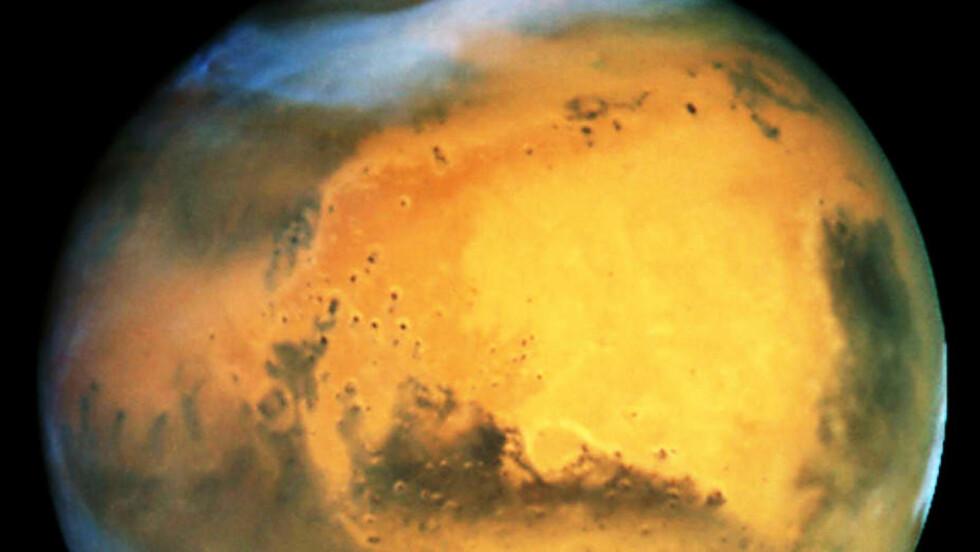 GÅTEFULL NABO: Fascinasjonen for vår naboplanet Mars har vært stor til nær sagt alle tider - og den blir neppe mindre etter kveldens store Nasa-pressekonferanse. Foto: NASAS «HUBBLE»-TELESKOP/AP/SCANPIX