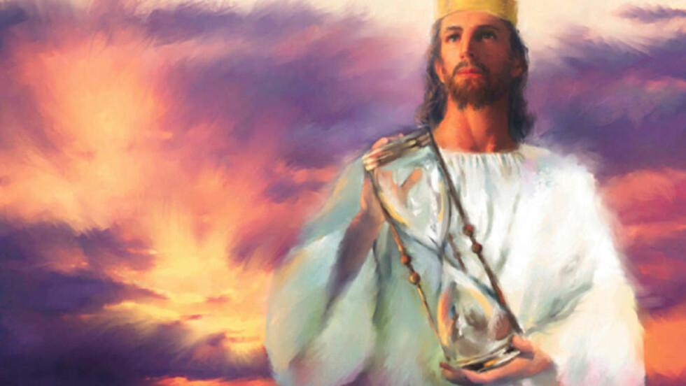 SNART KOMMER JESUS: De bibeltro endetidskristne har ventet på ham siden staten Israel ble opprettet i 1948. Men klokken tikker, mener de, timeglasset er snudd, i og med at Israel ble opprettet. Akkurat nå befinner vi oss i den såkalte endetiden, der det gode kjemper mot det onde. Fra: Endetidsbloggen
