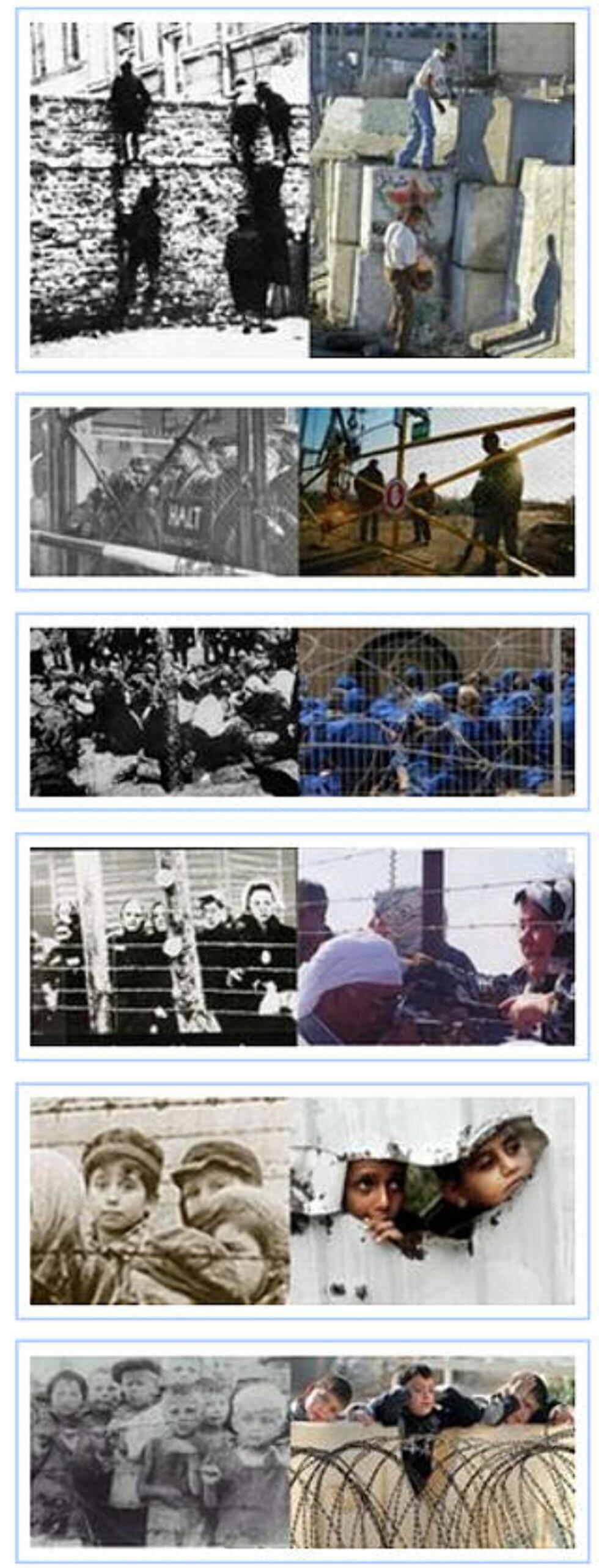 <strong>BILDENE:</strong> I eposten, også gjengitt i israelske medier, sammenligner den norske diplomaten Israels krigshandlinger på Gaza med nazistenes utryddelse av jøder under andre verdenskrig. Foto: Skjermdump