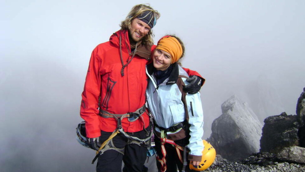 MISTET EKTEMANNEN: En fersk rapport fastslår at ingen enkeltpersoner eller ekspedisjoner er ansvarlige for at Rolf Bae (33) og ti andre klatrere døde på K2. Her er Bae sammen med kona Cecilie Skog, som også deltok i ekspedisjonen. Foto: Cecilieskog.com