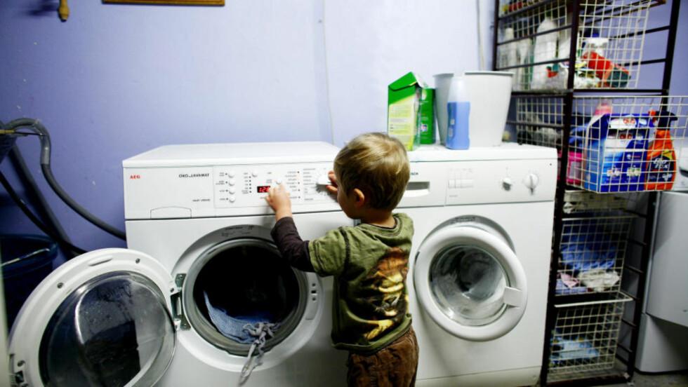 <strong> TIDLIGE KRØKES:</strong> Men de fleste nordmenn bruker ikke spareknappen på vaskemaskinen. Illustrasjonsfoto: SCANPIX.