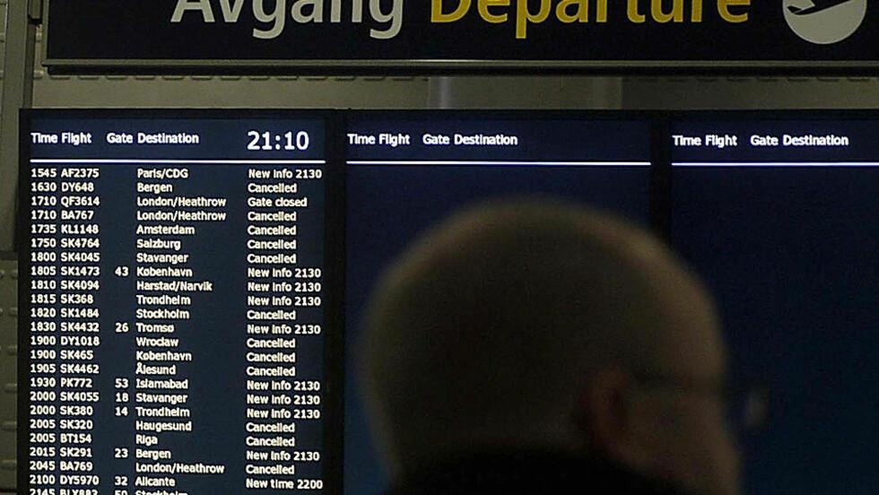 KLART: Det er nå klart for fly å ta av fra Gardermoen, men det er opp til flyselskapene når dette vil skje, opplyser informasjonsansvarlig ved OSL, Jo Kobro. Foto: Bjørn Langsem
