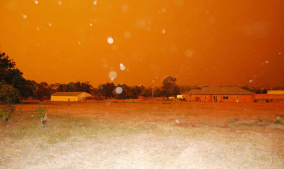 REGNER ASKE: Aske regner over byen Churchill. Foto: ELLEN T. DOHERTY