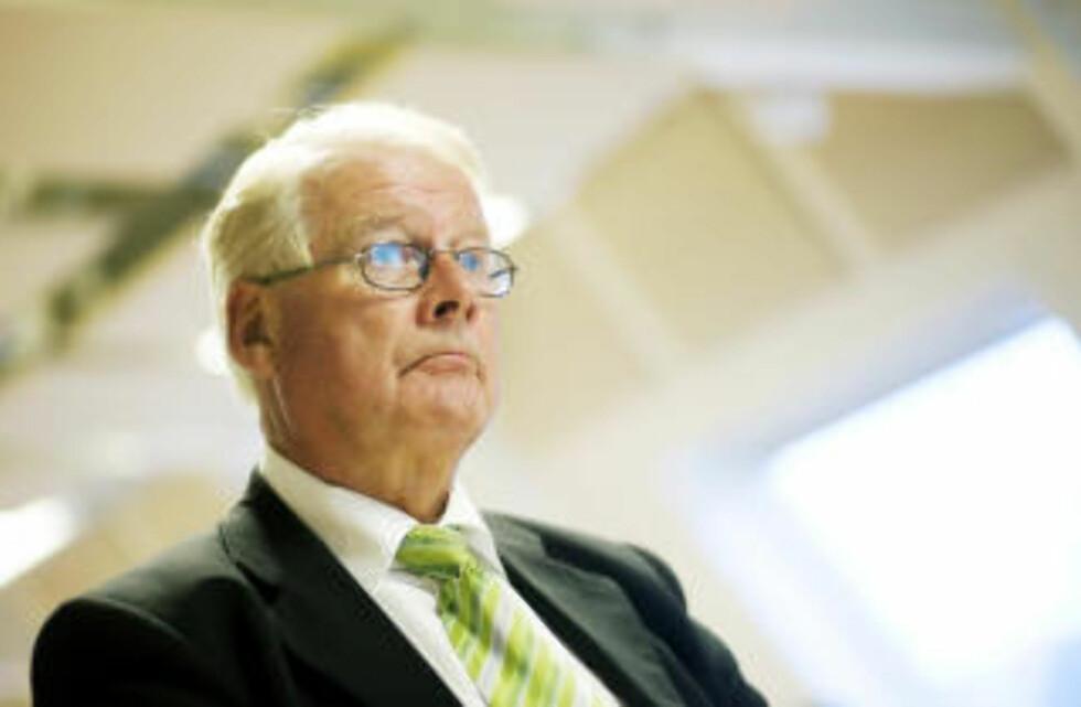 IKKE FORNØYD 2: Carl I. Hagen. Foto: Kyrre Lien / SCANPIX