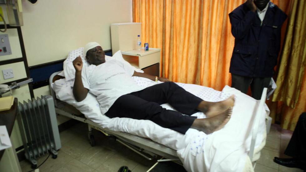 MISTET KONA: Zimbabwea-statsminister Morgan Tsvangirai går tilbake på påstandene om at han og kona var utsatt for et attentat. Foto: AFP/Tsvangirai Mukwazhi