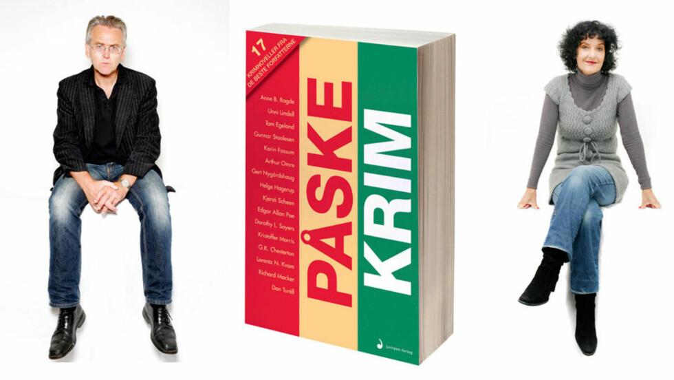 PÅSKEKRIMFAVORITTER: Gunnar Staalesen og Unni Lindell er blant forfatterne som er representert i novellesamlingen med det treffende navnet «Påskekrim». Den har fått plass på bestselgerlista denne uka. Foto: AGNETE BRUN / JURITZEN FORLAG