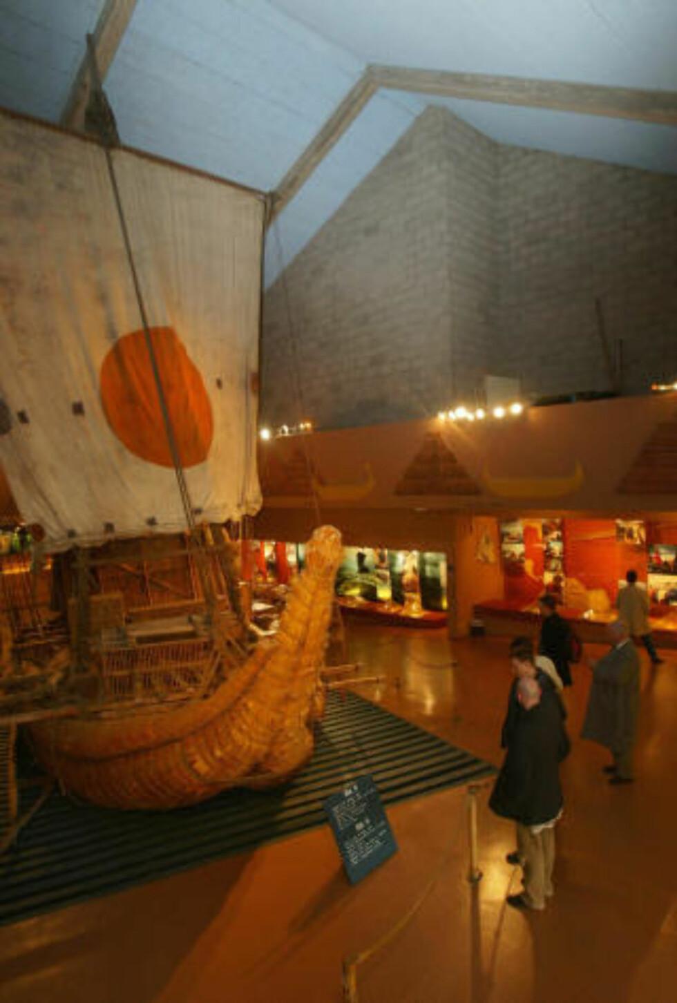 NASJONALE KLENODIER: På Kon-Tiki-museet oppbevares blant annet sivbåten Ra to. Foto: Foto: Morten Holm / SCANPIX