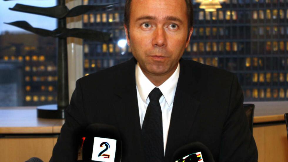 STÅR PÅ FORBUD: Trond Giske vil opprettholde forbudet mot politisk reklame, til tross for at NRK meldte om det motsatte onsdag morgen. FOTO: SCANPIX