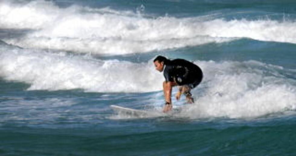 SUFRING: På Fuerteventura. Foto: JOHN TERJE PEDERSEN