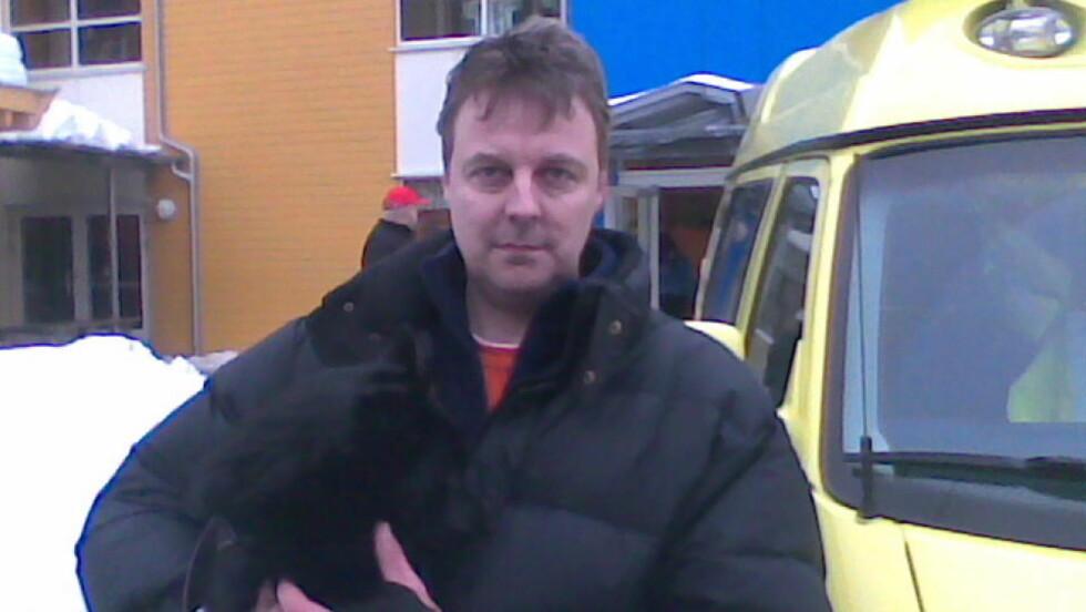 REDDET: Rolf Egil Juul (46) overlevde rasinfernoet. MMS-foto: Dagbladet.no