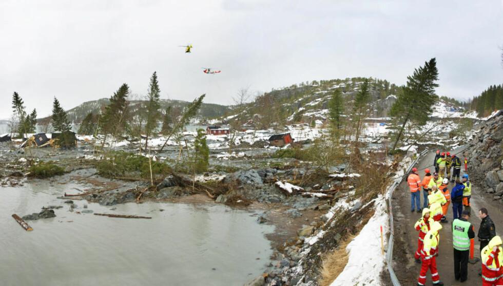 VEIBYGGING: Her går veien som skulle utvides av Statens Vegvesen. Multiconsult utredet grunnen og anbefalte en rekke sikringstiltak på grunn av leirmassene i området. Foto: Steinar Johansen.