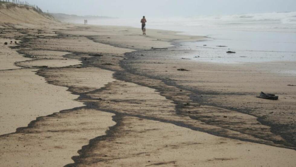 OLJESØL: - Det kan være den verste miljøkatastrofen Queenland noensinne har sett, sier delstatsminister Bligh. Foto: Scanpix