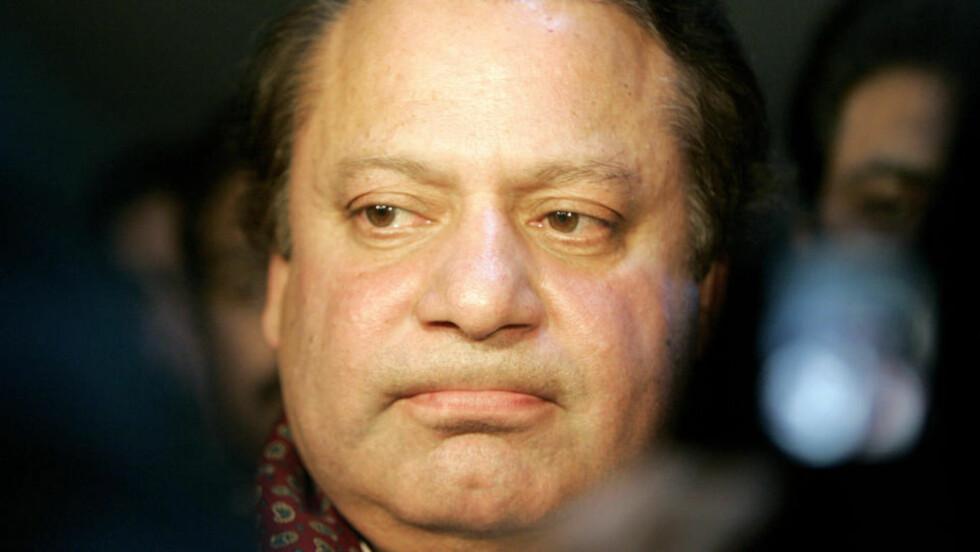 I HUSARREST: Opposisjonsleder Nawaz Sharif er satt i husarrest for å hindre at han deltar i dagens demonstrasjoner. Foto: Scanpix