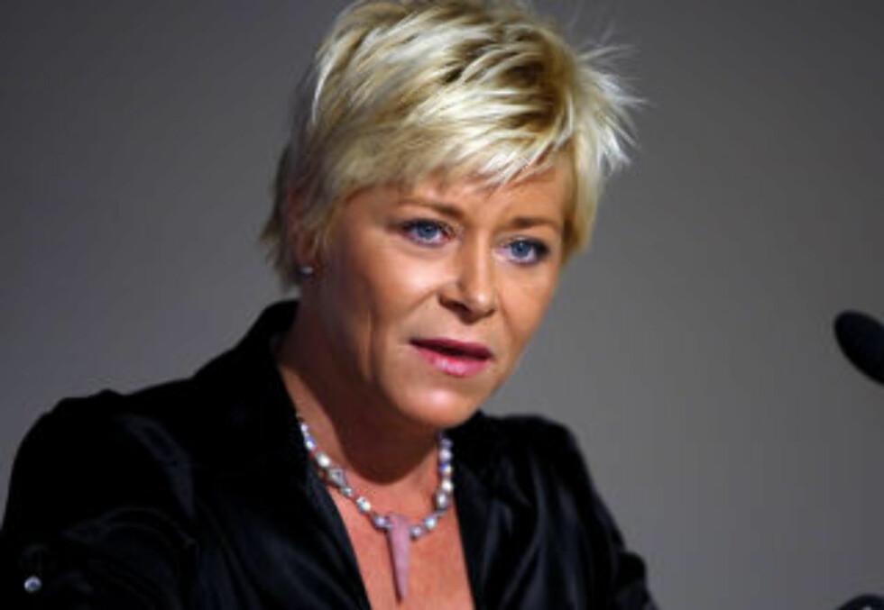ISLAMISERING: Frp-formann Siv Jensen skaper ifølge SV frykt.