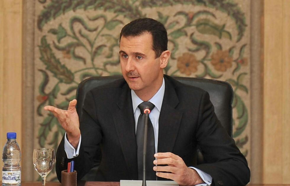 HAR TRO: Syrias president Bashar al-Assad  sier Obama har vist at han holder ord ved å stenge Guantanamo og planlegge uttrekning fra Irak. Foto: AFP/HO/SANA/SCANPIX