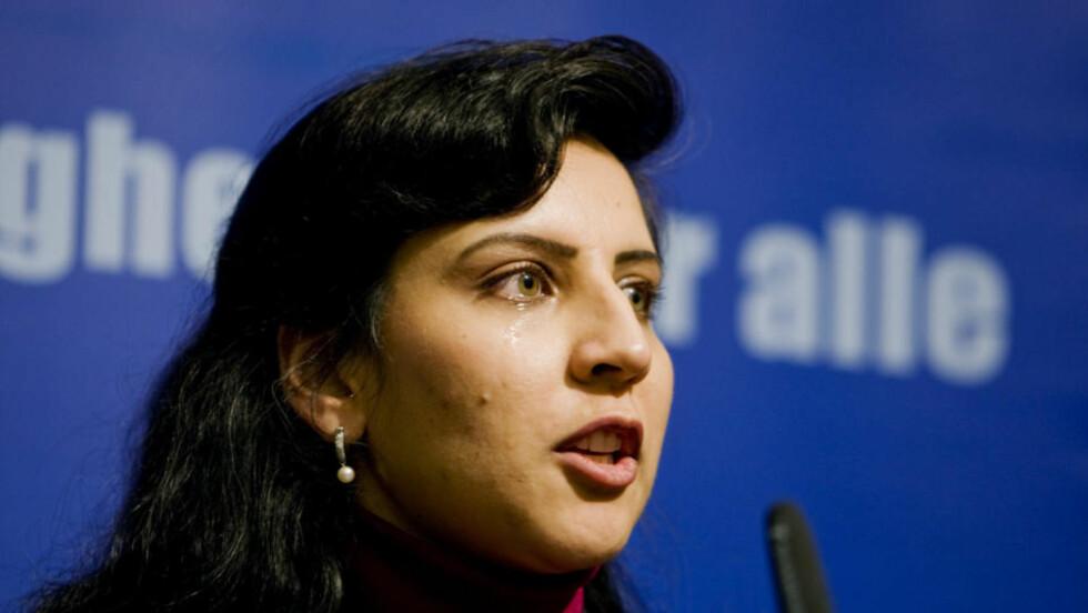 SVIKTER: Afshan Rafiq ble valgt inn på sjetteplass på Oslo Høyres stortingsliste under nominasjonsmøtet i Oslo Høyre. Nå langer hun ut mot AP, som hun mener svikter sine trofaste innvandrervelgere.  Foto: Cornelius Poppe / SCANPIX