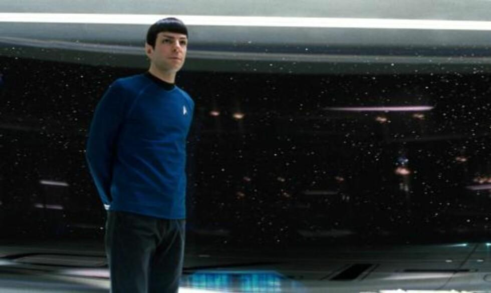 POPULÆR KARAKTER: Zachary Quinto spiller Spock. Foto: AP Photo/Paramount Pictures, Industrial Light & Magic