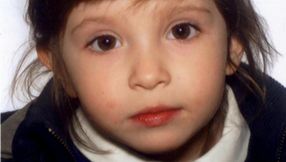 KIDNAPPET: 3-åringen Elise ble bortført og faren banket opp i den franske byen Arles. AFP PHOTO / HAND OUT/ JUDICIARY POLICE