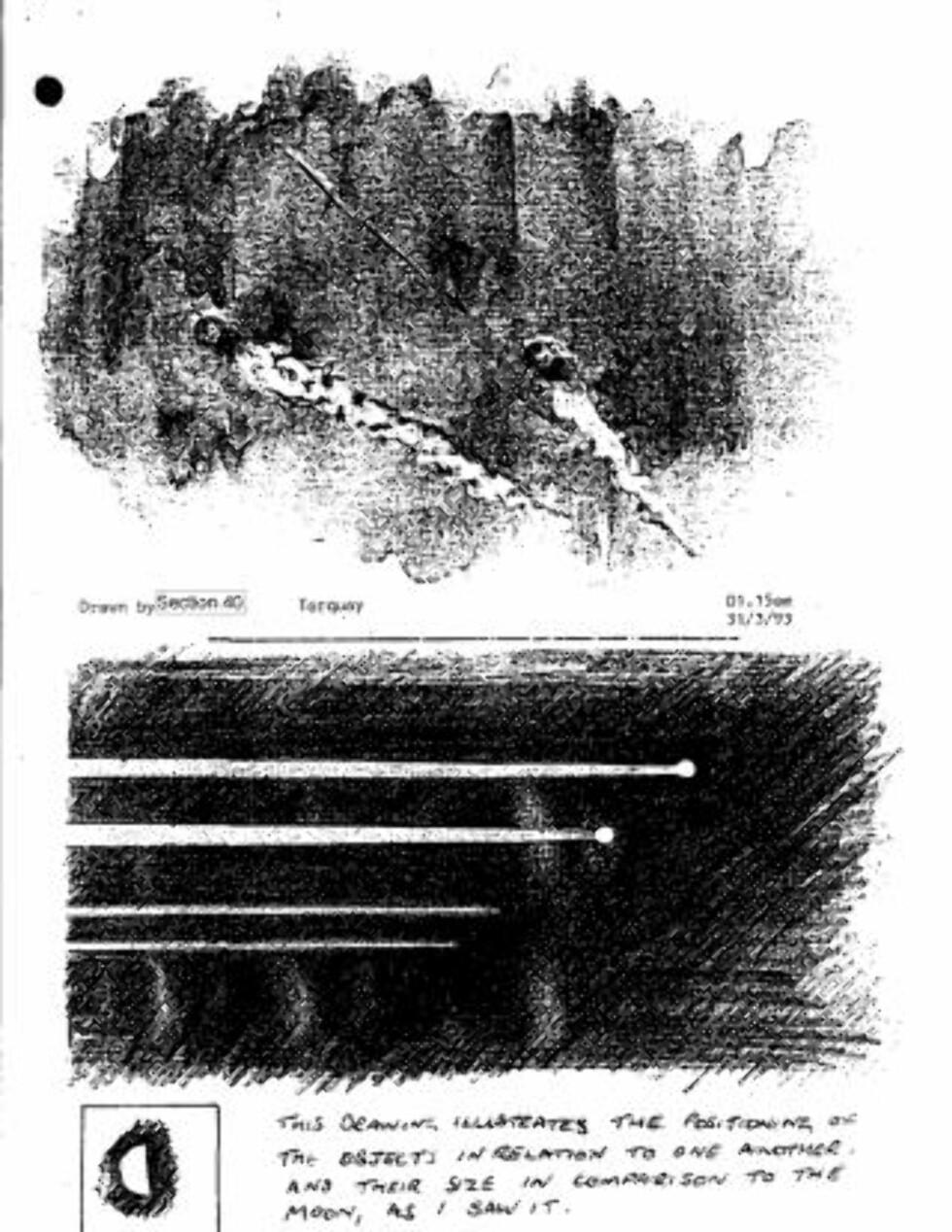 UFORKLARLIG: Mange observasjoner av uforklarlige lys på himmelen er dokumentert i arkivet.